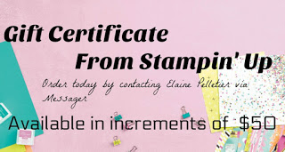 Holiday Gift Certificate, Stampin' Up Gift Certificates, Stampin' Up for Christmas, Best gift for Crafters.