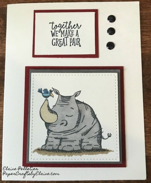 #animalouting, #rhino, #kangaroo, #giraffe, #stampinup30, #2018Stampinup,  animal cards,  party favors, baby shower invitation