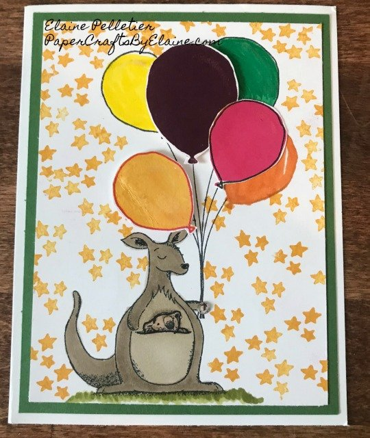 #rhino, #kangaroo, #giraffe, #Babyannouncements, invitation, Animal Outing Stampin Up, #stampinup,