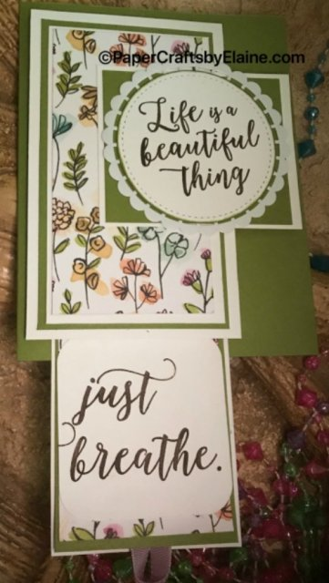 #pulltagcard, #stampinup30, #sharewhatyoulove, #papercrafts, Colorful season stampin up.