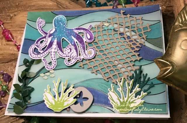 Octopus, Sea Texture, Stampin up, nautical stamps, ocean stamp sets,