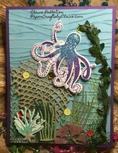 Sea Texture stamp set, seaside embossing folders, boxwreath embellishments, multi media cards