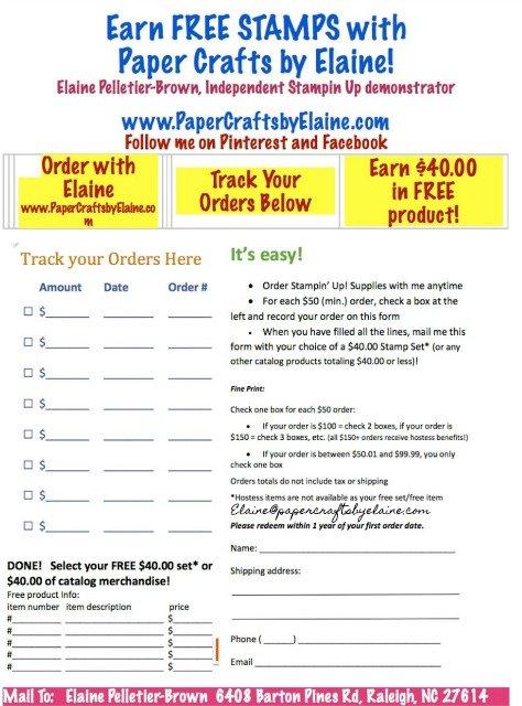 #stampinup, #CustomerLoyaltyProgram, PaperCraftsbyElaine