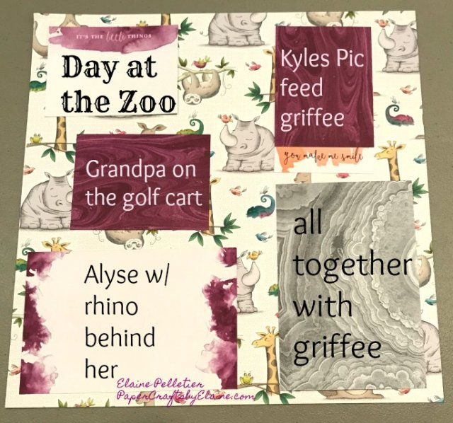 Memories and More, scrapbooking, rhino, Animal Outing, zoo, scrapbooking layout, handmade crafts, online crafts, paper crafting, cards, handmade cards.