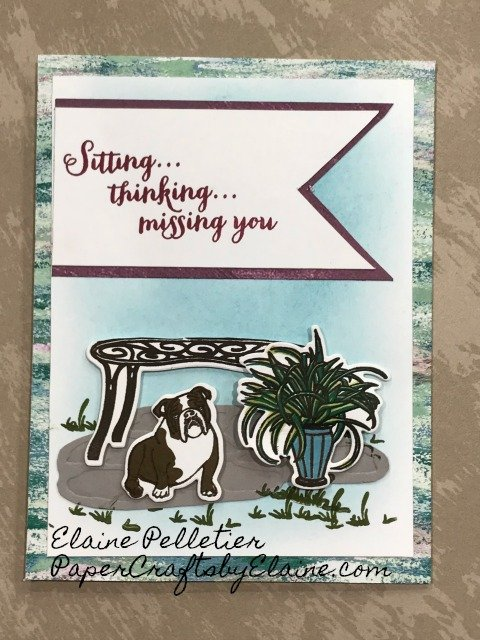 Sitting Pretty, #stampinUp30, bulldog, #bulldog, #getconnected, Customer loyalty program, #customerloyaltyprogram, #stamparatus, #positioningtool, paper crafting, #stamping.