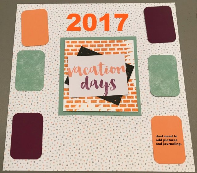 scrapbooking, card making, handmade paper crafting, online crafting, paper crafting, vacation day scrapbook layout.
