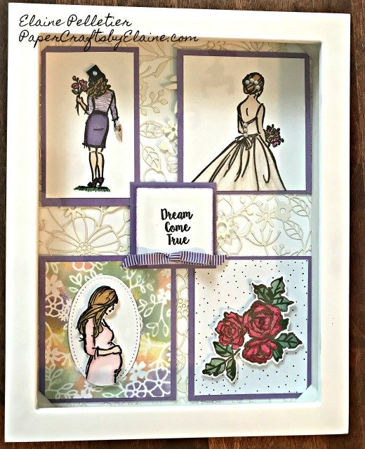 greeting cards, handmade cards, shadow box, online classes, Wonderful Moment stampin up, online projects, wedding project, anon