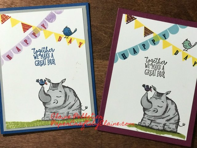 Pick a Pennent, Animal Outing SU, #stampinup30, Stamparatus project, Kids projects, Making cards with kids.