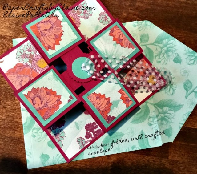Tea Room DSP, tea room stampin up, Swinging card, 3D cards, 3D Projects, Hanging card, paper crafting greeting cards, handmade cards,