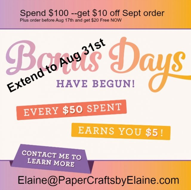 Bonus Days, Stampin Up Bonus Days, Discount on Stampin' Up, Greeting cards, handmade cards, scrapbook pages discounts, discount on scrapbook supplies,