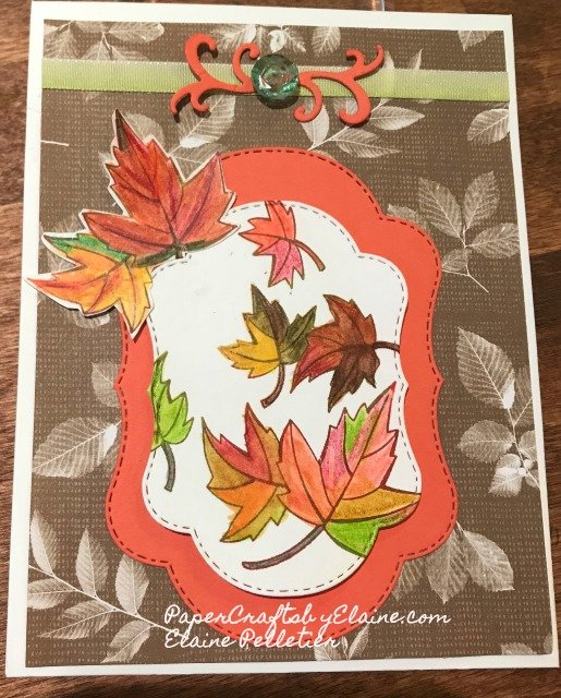Blended Seasons Bundle, greeting cards, Cards for fall,  scrapbook embellishments, fall leaves,