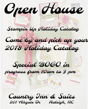 SU open House, Open House with Stampin Up, 2018 Holiday SU catalog, scrapbook supplies, stamping supplies, rubberstanping, SU sale,