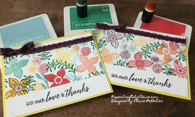 kid friendly projets, DIY own designer paper, rubber stamping, greeting cards, pop of petal Stampin' Up, make your own designs,