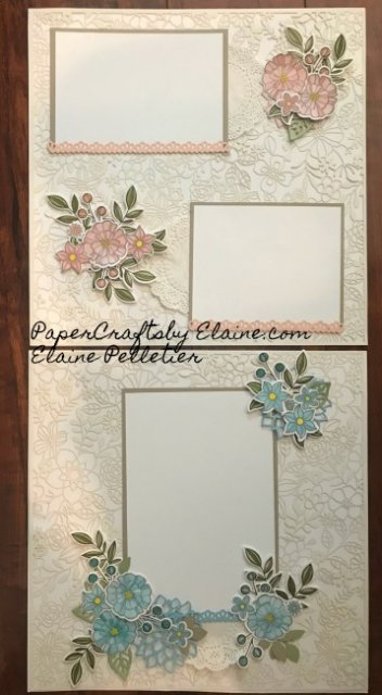 delightfully detailed laser cut, scrapbook layout, easy scrapbook pages, stampin up design scrapbook, scrapbook ideas, scrapbooking pages, elegant scrapbooking pages.