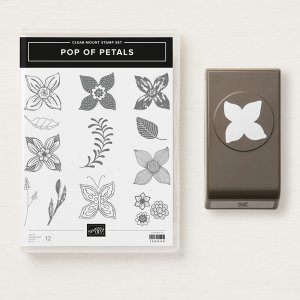 Pop of Petals and Four Petal Flower stamp