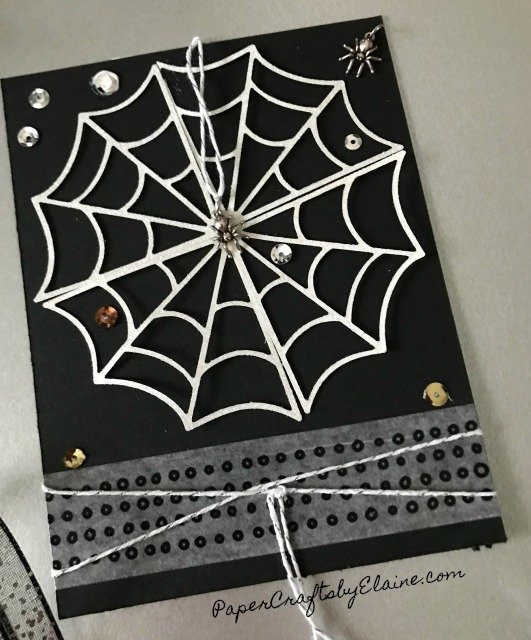 DIY halloween cards, Halloween Fun, spider webs, spider charms, Stampin' Up spiders charms, DIY spider charms.