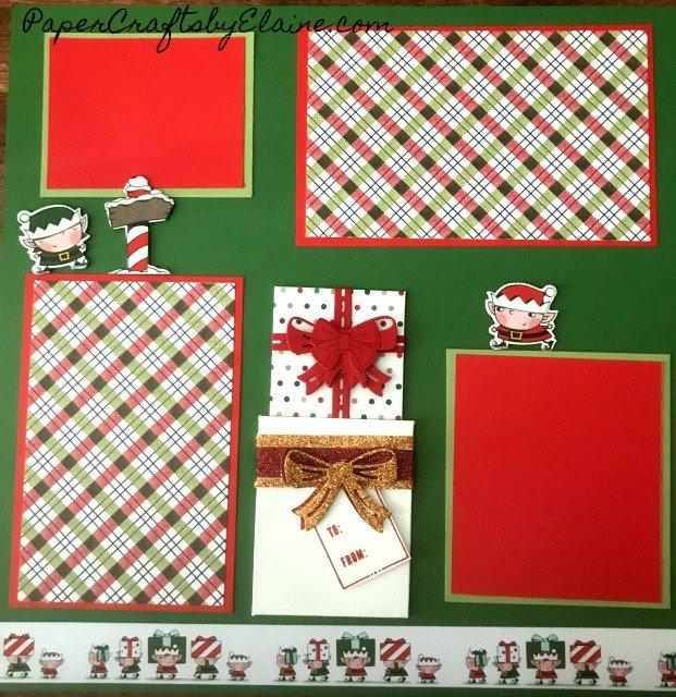 Santa's Workshop Stampin' Up, Bring on the Present stamp set, scrapbook layout, Christmas scrapbook layouts, Scrapbooking layouts Stampin' Up,
