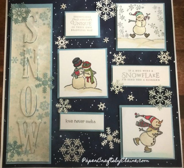 Spirited Snowmen Stampin' Up, Beautiful Blizzard Bundle Stampin' Up, Winter sampler, Snow sampler, home decorating with Stampin' Up, home decor for the winter,