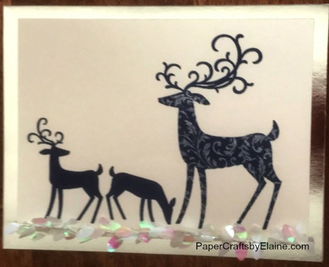Handmade Christmas cards, dashing Deer Stampin' Up, rubber stamping, Stampin' Up, Paper Crafts by Elaine, simple Christmas Cards.