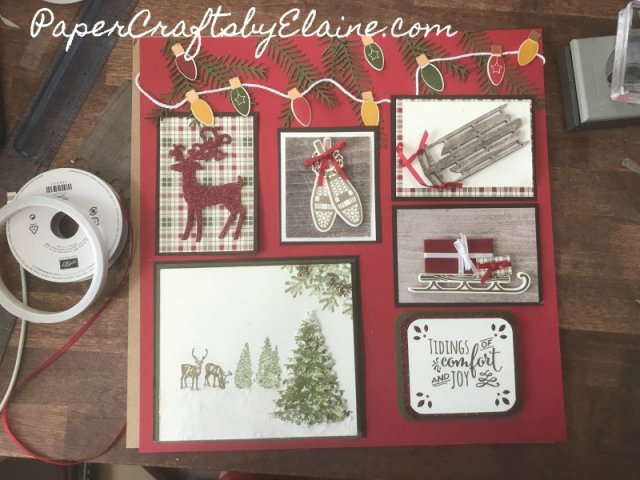 home decor, holiday decoration, Stampin' Up holiday decoration, handmade gifts for the holiday, Stampin' Up Alpine Adventures, Making Christmas Bright Stampin' Up, money saving ideas for Christmas,