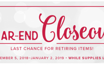 Year End Closeout from Stampin Up