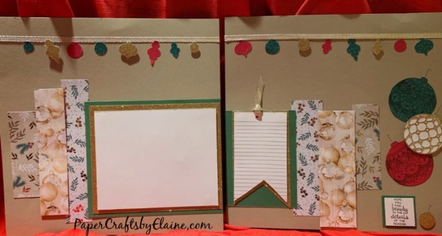 scrapbook layouts, Christmas Scrapbook Layouts, Stampin' Up scrapbook pages, Christmas layouts, scrapbook Christmas Layouts