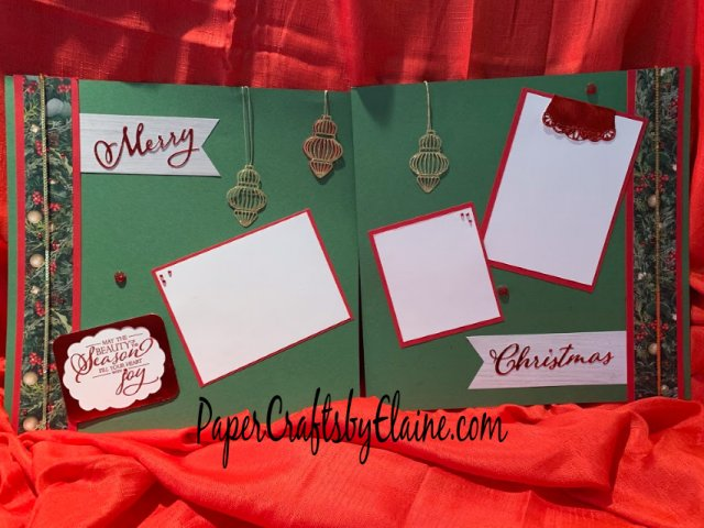 scrapbook pages, Stampin' Up scrapbooking page, Christmas with Stampin' Up,  scrapbooking layouts, scrapbook inspirations, scrapbook title page.