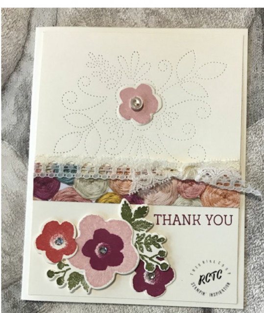 Needlepoint Bundle Stampin' Up, Needle & Thread Bundle Stampin' Up, occasion cards, greeting cards, Thank you cards, Handmade cards, needlepoint,