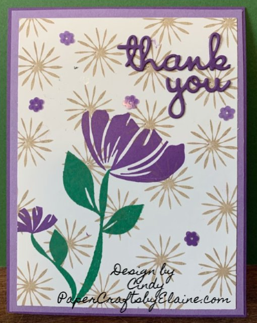 Bloom by Bloom stamp set, greeting cards, all occasion cards,  creating own dsp,  stamping techniques, paper crafting, gorgeous grape colors, thank you note cards, birthday cards, well said framelits,