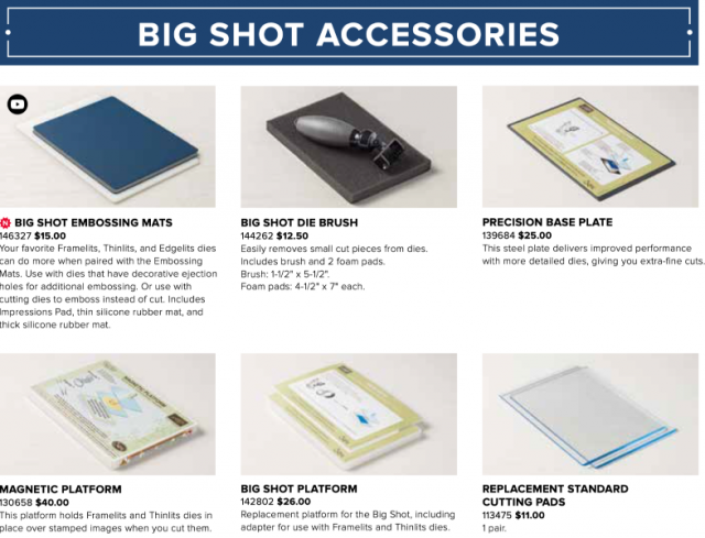 Stampin' Up big shot discontinued