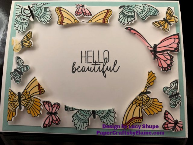 butterfly gala Stampin' Up, all occasion cards, handmade cards, techniques, paper craft techniques