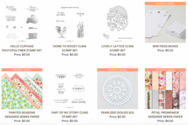 sale-a-bration rewards, free products from Stampin' Up