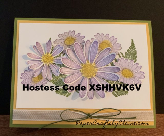 July Hostess Code, Free as a Bird, Daisy Land, watercoloring, Daisy Lane,