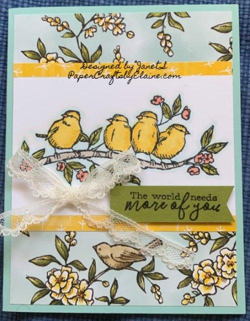 Greeting cards, all occasion cards, Free as a Bird stamp set, Bird Ballard Suite, Bird Ballad Designer Series Paper,