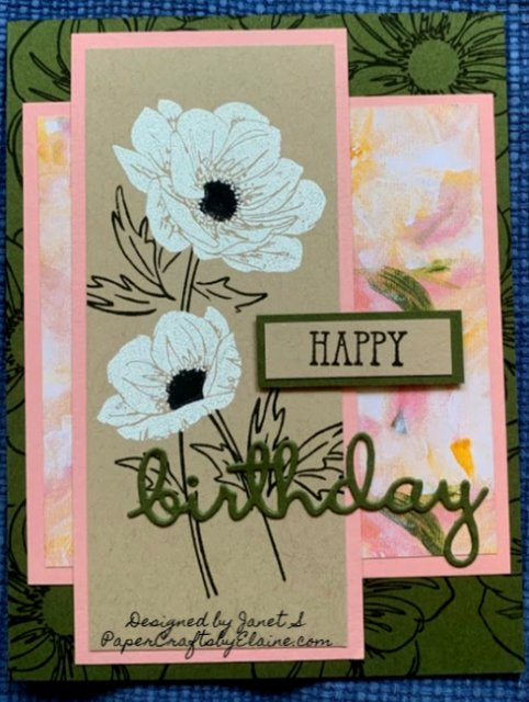 perennial essence stamp set, greeting cards, all occasion cards, beautiful flower stamps, birthday cards, easy to make cards, homemade cards, Birthday wishes cards,