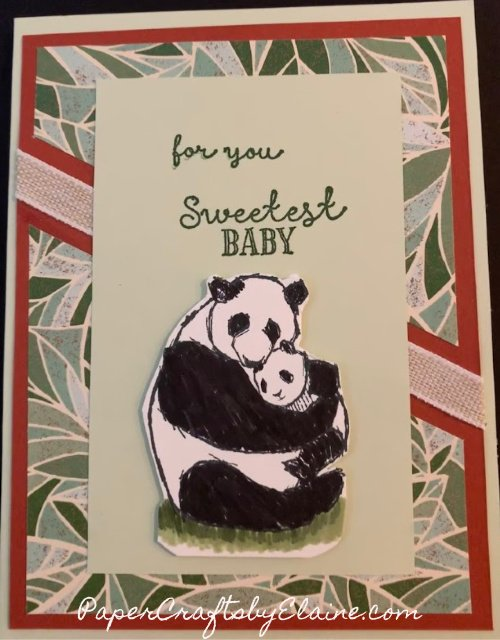 Wildly Happy stamp set, cards for baby showers, greeting cards, all occasion cards, Panda Bear stamp set, mommy and baby stamps, mood mosaic dsp,