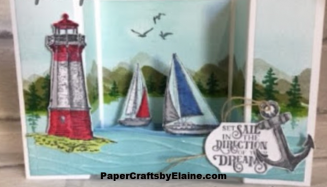 Father's Day, Male cards, masculine cards, greeting cards, all occasion cards, cards for men, Come sail away, Sail away Stampin' Up, nautical cards, lighthouse stamps,