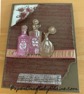 Fancies Fragrance Stampin' Up, greeting cards, vintage cards, handmade cards, fun with embossing, vintage card classes