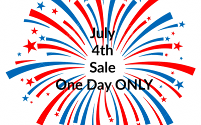 July 4th Sale ONE DAY ONLY