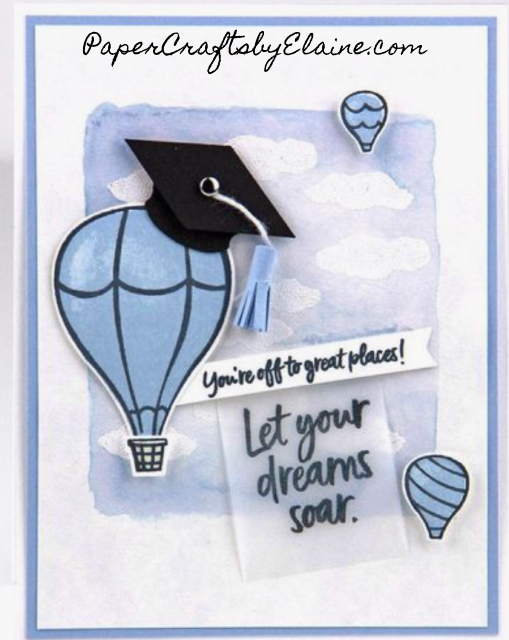 graduation card, greeting card, handmade card, fun cards to make, a twist on hot air balloons, Above the clouds stamp set, Stampin' Up above the clouds,