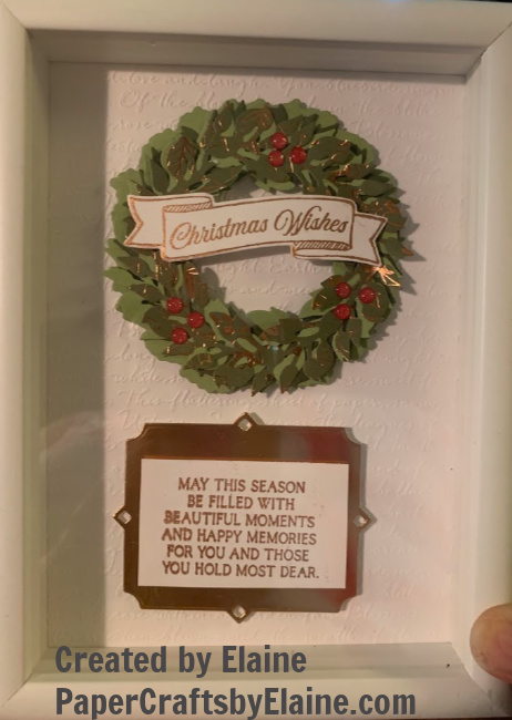 home decor classes, making Christmas gifts, Stampin' Up Peacock DSP, Stampin' Up and home decor, anything but cards,