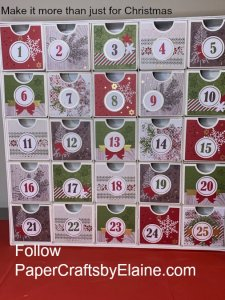 Advent Calendar, Countdown to Christmas Stampin' Up, Birthday countdown, Back to school Count down, Count down to the new Year, countdown, greeting cards, Christmas calendar