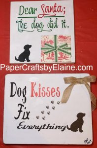 Christmas wood sign classes, Pets wooden signs, Dog did it wood signs, greeting cards, handmade wood signs, home decor wood signs.