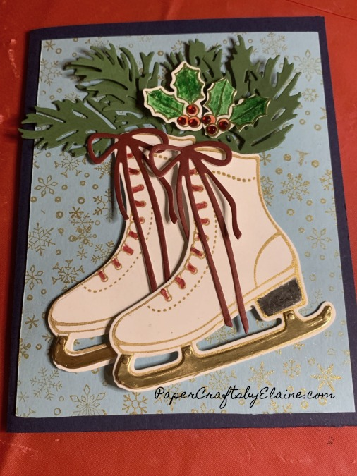 Free Skating bundle, oct card class, handmade card classes, greeting cards, handmade greeting cards, Christmas cards,