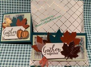 Gather Together Treat Bag, Copper Dotted Treat Bag, Gather Together Bundle, Greeting Cards, Handmade greeting cards, treat bags,  fall treat bags,
