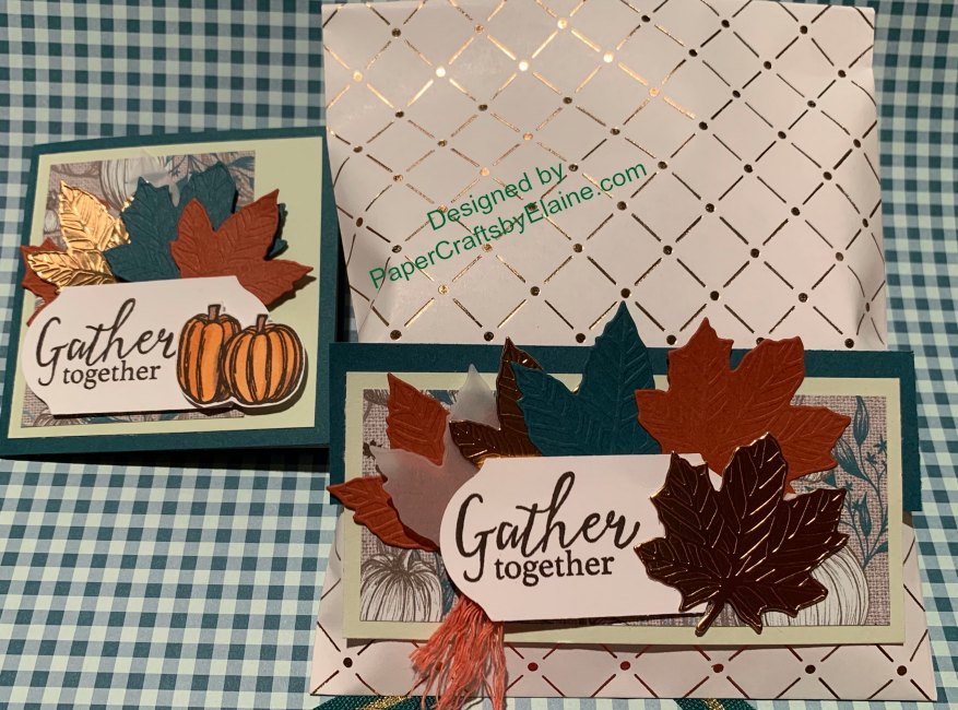 Gather Together Bundle is perfect for my family fall party. Adding in the Copper Dotted Treat Bag and you are ready for a party.