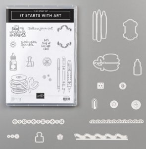 It Starts with Art bundle, Stampin' Up school days, art fun, school stamps, greeting cards, handmade greeting cards, greeting cards