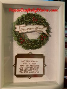 Christmas Wreath, Stampin' Up Christmas Wreath, Peacock and wreaths, greeting cards, handmade cards, handmade Christmas gifts, qugifts. quick and easy Christmas gifts, Merry Christmas gifts, easy gifts to make, Gifts for under $25, You can make it,