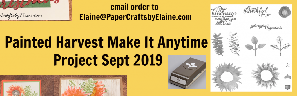 Make anytime project, sept make anytime projects, greeting cards Painted Harvest stamps Set, rainy day kit, fun with Stampin' Up, scrapbook pages, DSP special, Special projects from Paper Crafts by Elaine