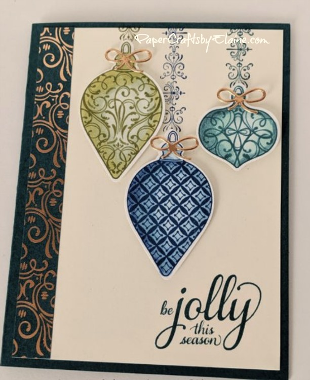 Christmas Gleaming bundle features a stamp set and a punch. You are going to love how easy this bundle is to use. Order your bundle today from elainepelletier.stampinup.net. Thanks you. Elaine